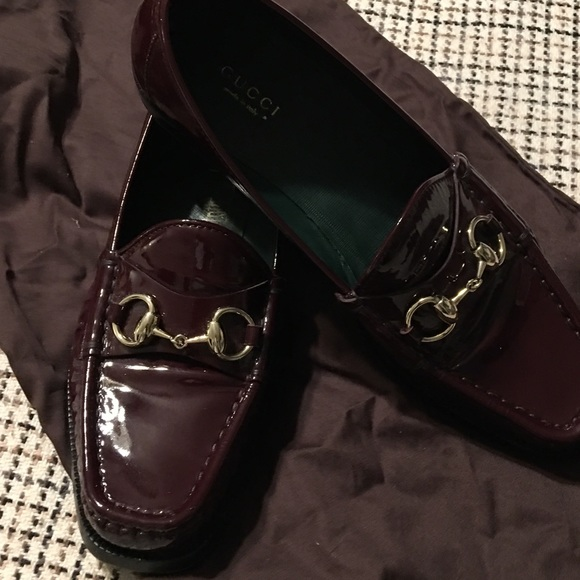 4865dd9d7 Gucci Shoes   Authentic Iconic Burgundy Patent Loafers 38   Poshmark